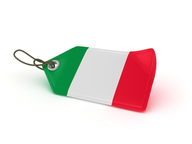 Shopping price tag italian flag