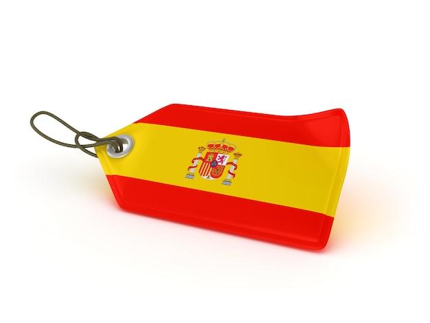 ショッピングの値札、スペインの旗