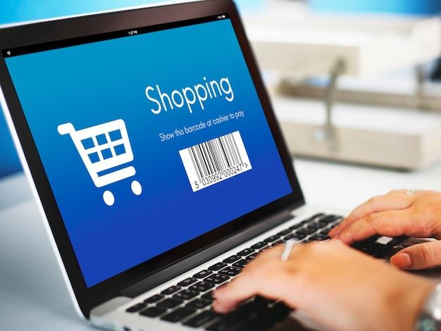 Concetto di sconto dell'ordine di acquisto dello shopping