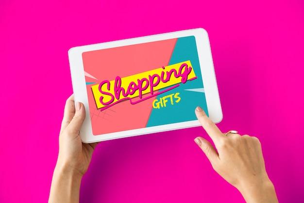 Buono regalo di vendita di acquisto online