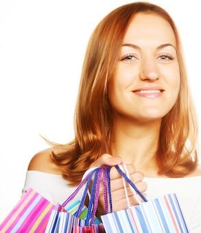 ショッピングのセクシーな女性