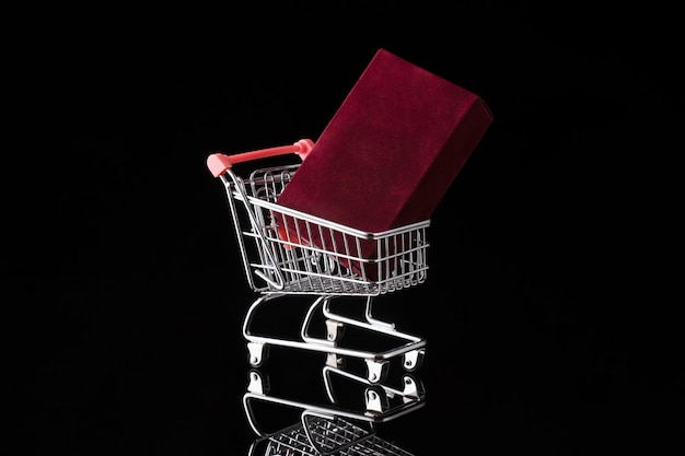 Shopping trolley cart and gift box