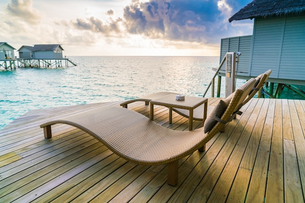 Shore sea water sun deckchair