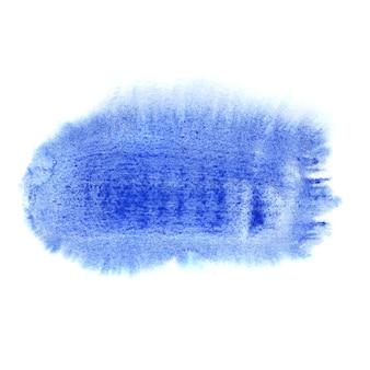 흰색 배경에 격리된 짧은 파란색 브러시 스트로크 - 자신의 텍스트를 위한 공간
