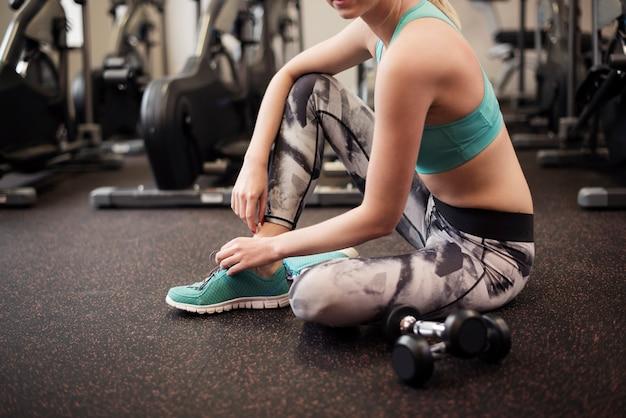 Breve pausa durante l'allenamento