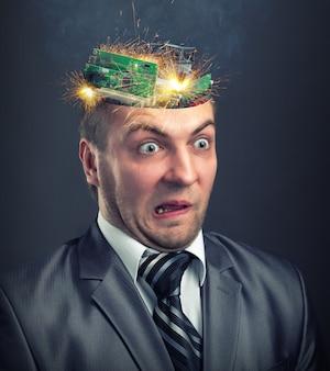 ビジネスマンの頭の短絡
