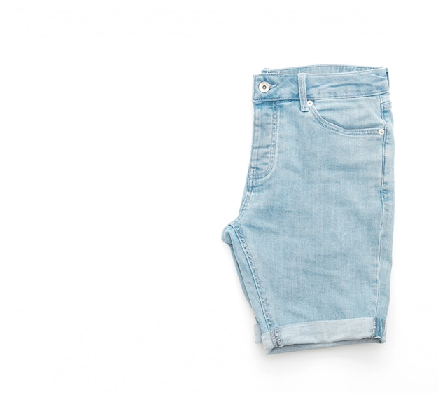 Short jeans pants isolated