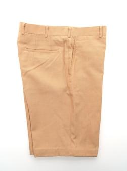 Short pants on white