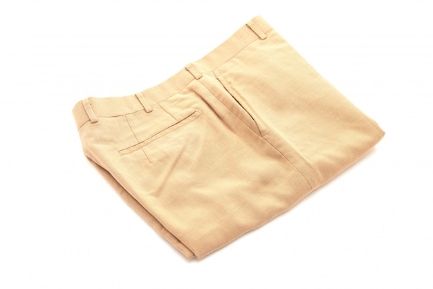 Short pants on white