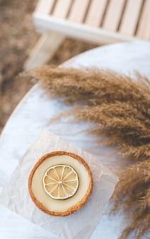 Песочная корзиночка с лимонным кремом