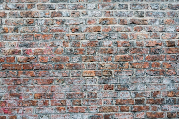 Shot of a cemented red and brown brick wall - great for wallpapers
