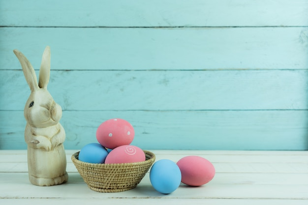 Shot of decoration happy easter holiday background concept.