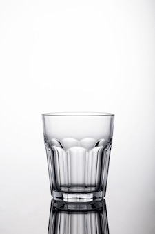 Shot of a glass of water on a white background