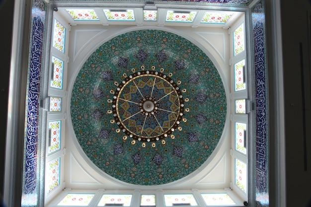 壁のいくつかのアラビアの装飾のショット
