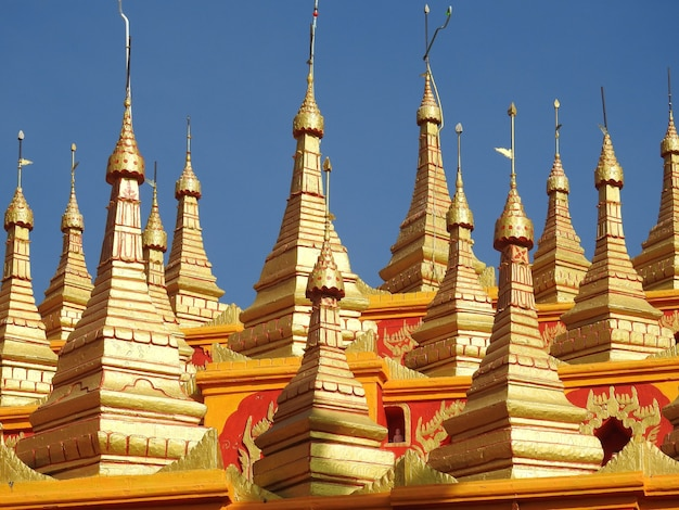 Shot of thanboddhay pagoda mandalay myanmar