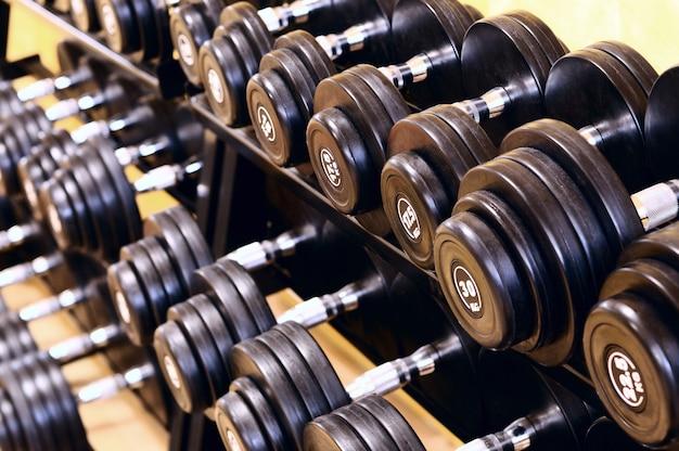 Shot of a weight training equipment