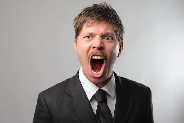 Shouting angry man