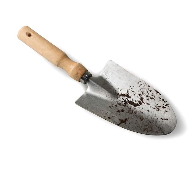 Shovel for gardening  isolated on white