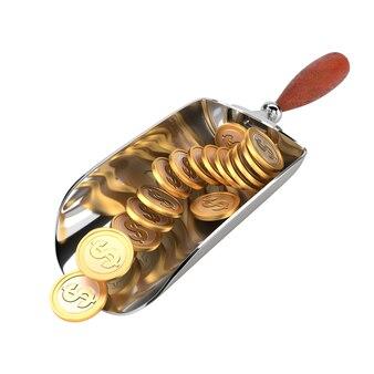 コイン、白い背景で隔離のドルとシャベルします。