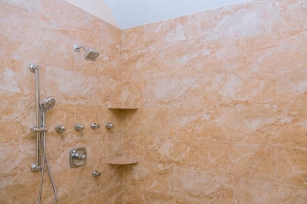 Shower bathroom in private, design of interior