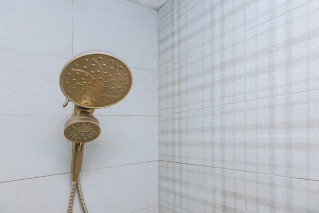 Shower head cubicle in the modern bathroom