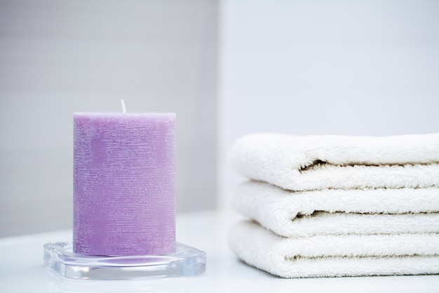 Shower supplies. composition cosmetic products of spa treatment.
