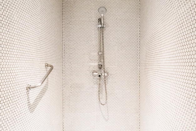 Shower with handle