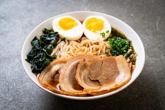 Shoyu ramen noodle with pork and egg