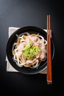 Shoyu udon ramen noodle with pork (shoyu ramen)