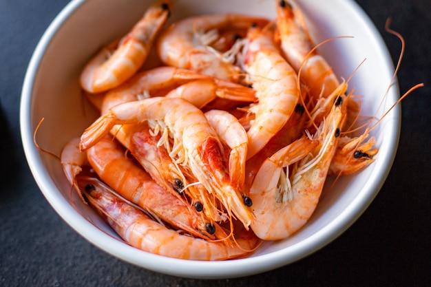 Креветки вареные морепродукты ракообразные креветки диета пескетарианец