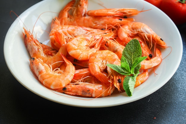 Shrimp cooked seafood ready to eat prawn serving size snac