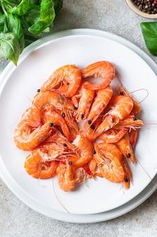 새우 매운 새우 해산물 식사 채식 음식