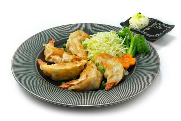 Shrimps dumplings fried pan recipe