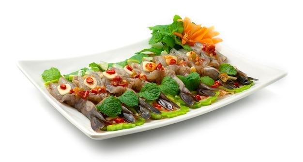 Креветки в рыбном соусе и остром соусе