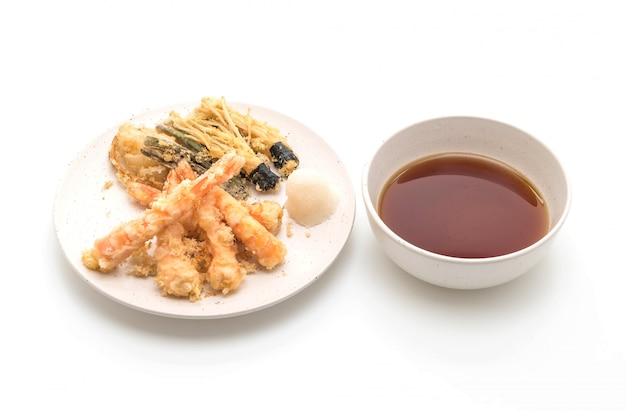 Shrimps tempura (battered fried shrimps)