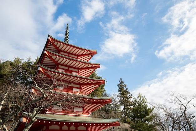 Shureito pagoda at fuji mountain