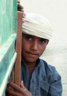 Shy arab boy