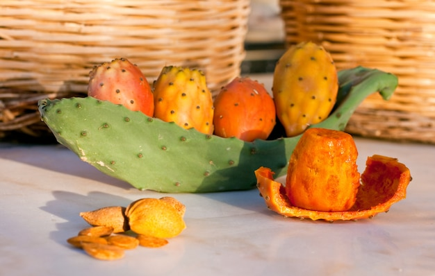 Sicilian peeled prickly pear