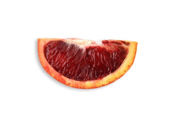 흰색 배경에 고립 된 시칠리아 레드 오렌지