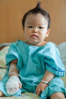 Sick children in hospital.