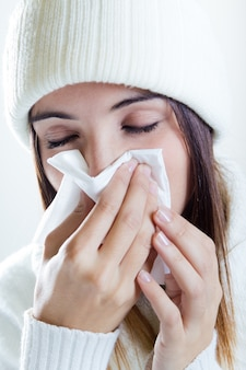 Sick illness cold winter woman