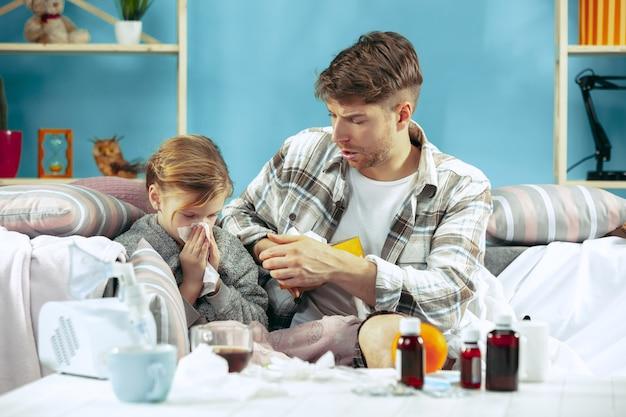 家に娘を持つ病人。
