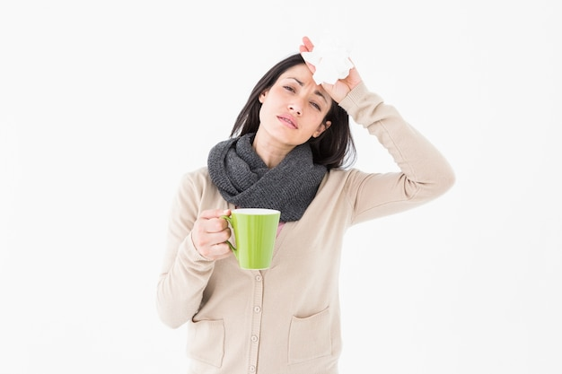 Sick woman having a migraine Premium Photo