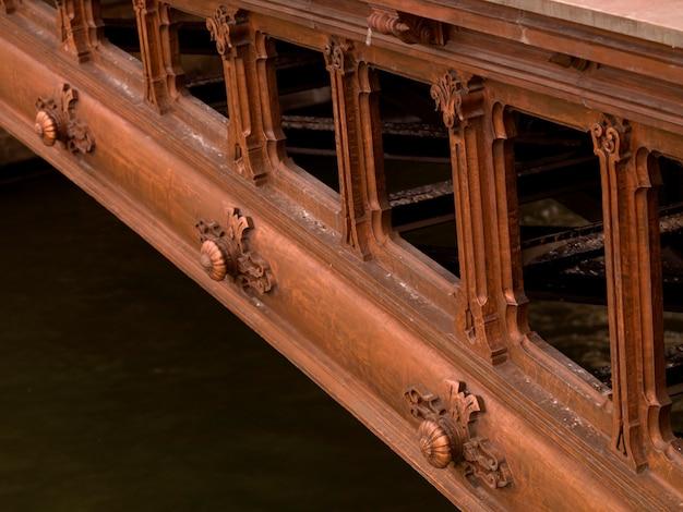 Side of bridge in paris france