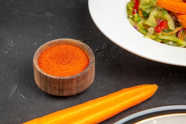 側面クローズアップ野菜カラフルなスパイス唐辛子ロースト野菜