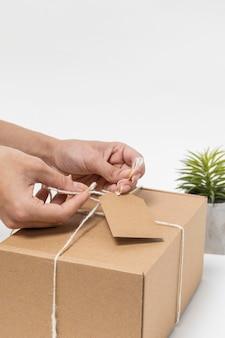 リサイクル可能なパッケージの側面図の品揃え