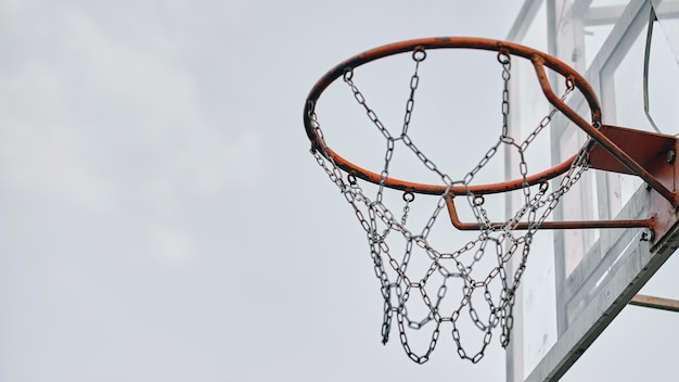コピースペース付きサイドビューバスケット