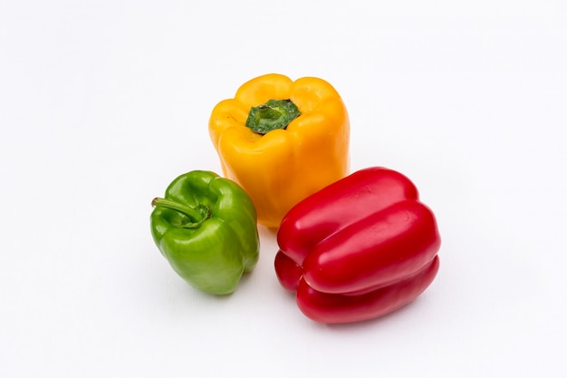 Side view bell pepper horizontal