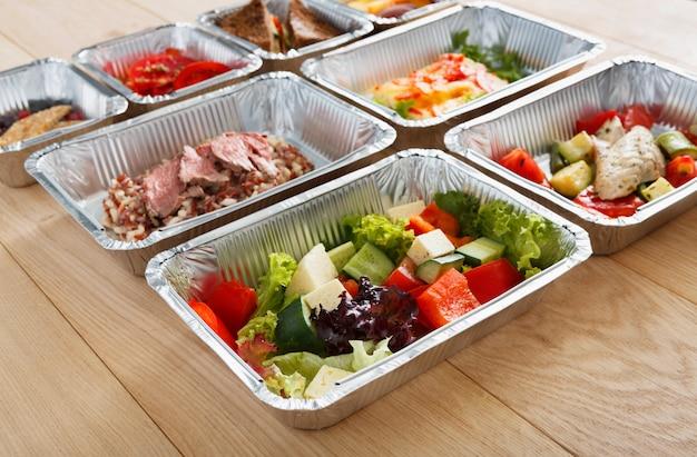 건강 식품의 측면보기 상자에 빼앗아
