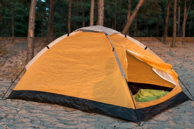 Sidewats camping tent in sand
